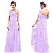 Сиреневое вечернее длинное платье.