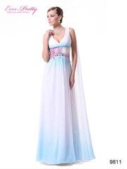 Вечернее платье белое с переливами из шифона.