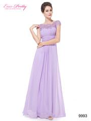 Сиреневое вечернее платье в пол из шифона