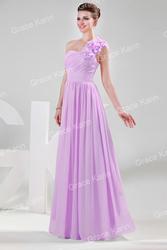 Сиреневое вечернее платье.