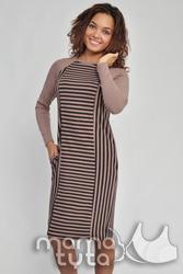 Платье для кормления и беременных Полоска
