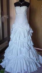 Свадебное платье со шлейфом,  44 размер