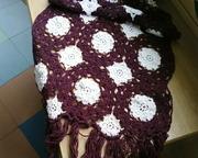 Ажурный шарф-палантин