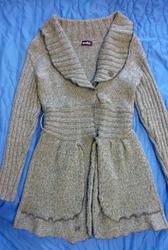 Шерстяное платье- кардиган