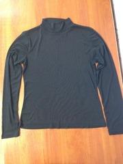 Черная прозрачная блуза