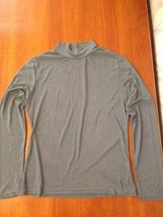 Серая прозрачная блуза