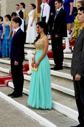Выпускное платье мятного цвета
