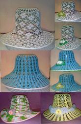 Ажурная летняя шляпка