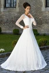 Свадебное молочное платье