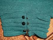 Продам красивое платье-тунику цвета морской волны б/у
