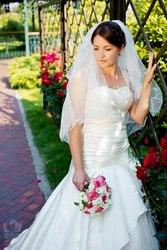 Продам б/у свадебное платье, Киев, 2500 грн,  фата в подарок,  после хим.ч