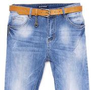 Джинсы голубые в винтажном стиле