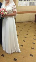 Свадебное платье в пол с корсетом
