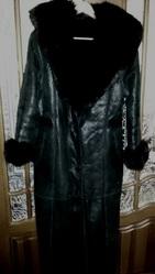 Дубленка женская DERMA Collection – Италия.Черная,  размер L