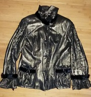 Куртка кожаная Culliano Bravo,  с отделкой из норки, пр-ва Италия